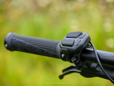 The RideControl ONE's clean controls look good and are easy to use.