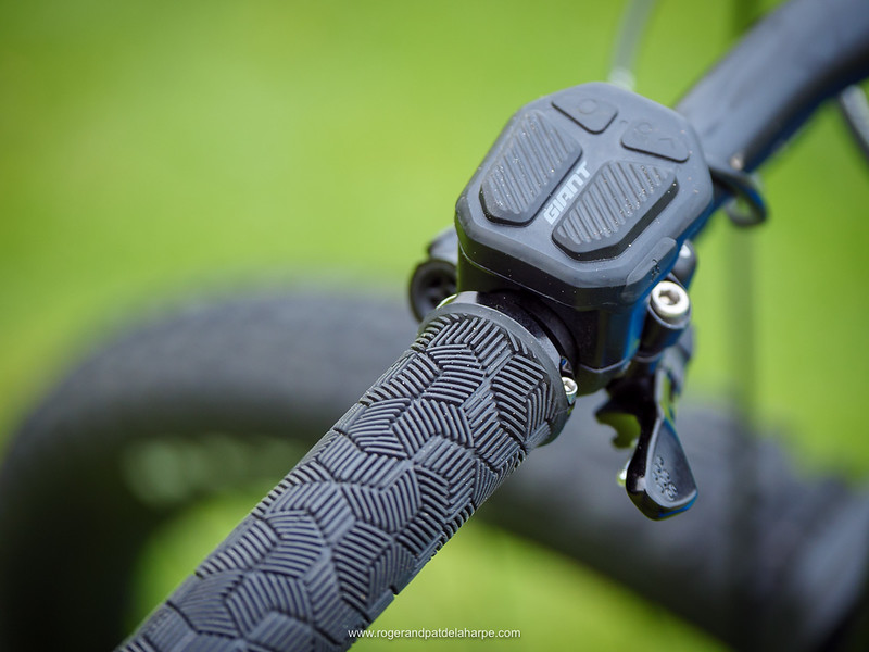 Very neat and functional - the Giant RideControl ONE controller, and below it, the leaver for the dropper seatpost.