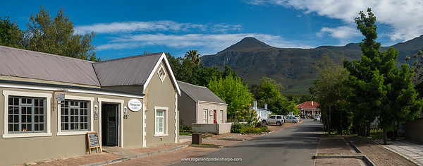 The various rides from Greyton start at the Vanilla Cafe. The Lady Grace is the white building on the left.