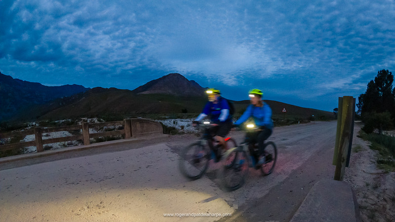 It was near dark when we got back to town, LedLensers lighting the way.