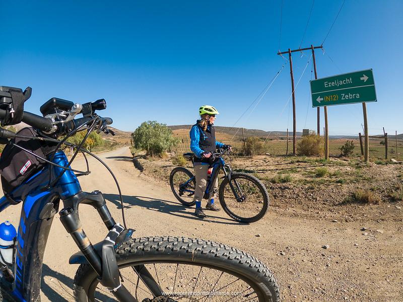 eBiking (mountain biking). Western Cape. South Africa