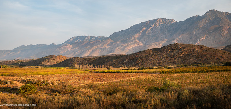 Wonderful views across farmlands to the Langeberg Mountains.