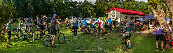 It can get quite busy at Ground Zero Bike Park - a great place to begin many of the George rides.