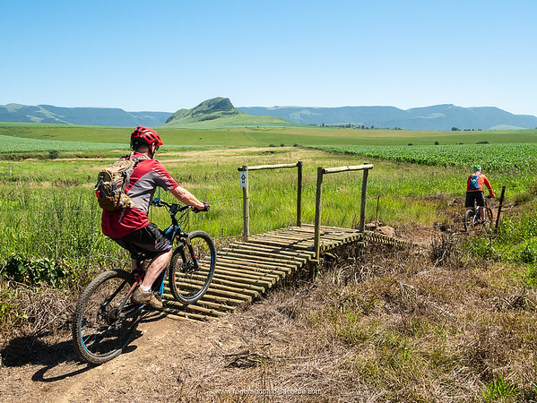 The 30km route offers some wonderful views of the Karkloof Mountains.