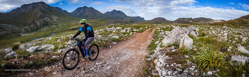 eBiking at Kogelberg Nature Reserve near Kleinmond in the Western Cape, South Africa.