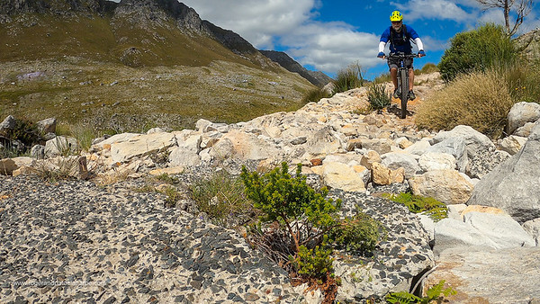 There have been some wash-aways on the route, which have been packed with rock - a little challenging for beginners.