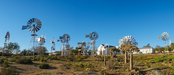 The windmills of Loeriesfontein and the Fred Turner Museum - quite interesting really.