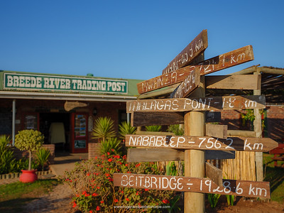 Breede River Trading Post near Malgas (Malagas). Western Cape. South Africa