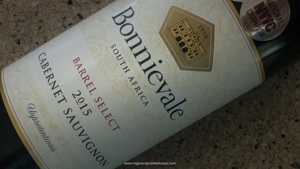 One of our favourites – the Bonnievale Cabernet Sauvignon.