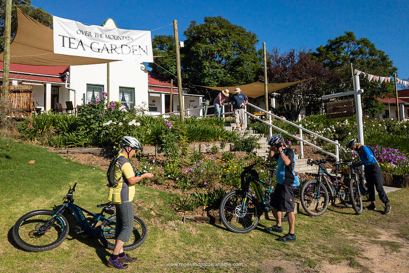 The ebikes at Over The Mountain in Herold. Western Cape. South Africa