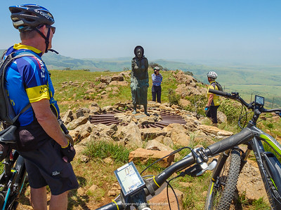 Susanna and the team on the edge of the Drakensberg – she seemed quite pleased to see us.
