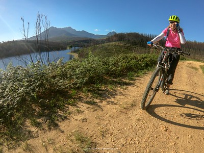 We're pushing distances on our training rides for our 280km ebike ride from Calitzdorp to Montagu. More info at http://bit.ly/GntLKT. Here we are at the Garden Route Dam at George on the Garden Route.