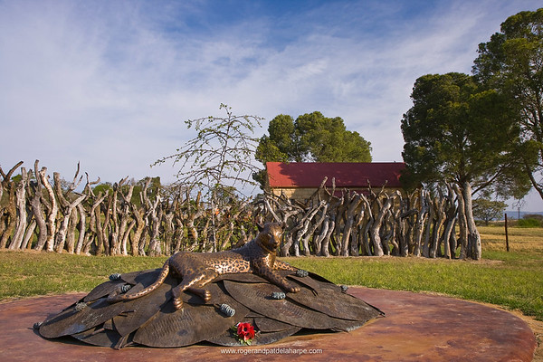 Monument to the Zulu warriors that fell at the Battle of Rorke's Drift. Dundee. KwaZulu Natal. South Africa