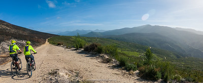 A nice section of level gravel road on the 19km Homtini route. There are a couple of serious climbs though.