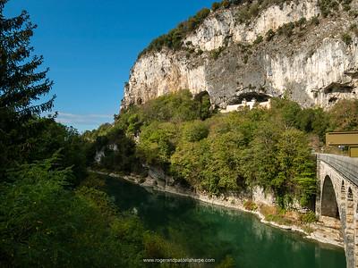 La Balme Caves and Rhone River. France