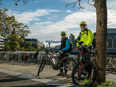 """Let the ride begin. We stopped for this quick """"ussie"""" as we were leaving Geneva CBD, heading for Syssel, the first overnight stop on the ride. Geneva. Switzerland"""