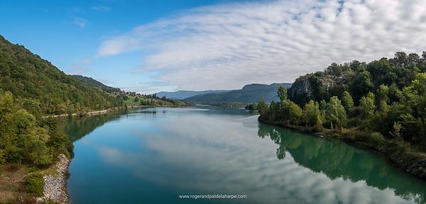 The Rhone River near Belley. France