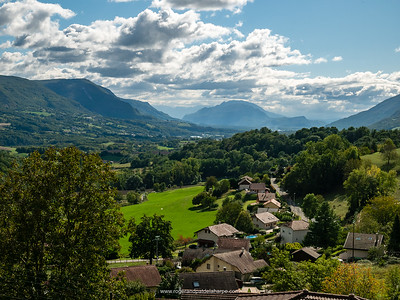 The tiny village of Challonges on the Rhone Cycle Route or ViaRhôna. France
