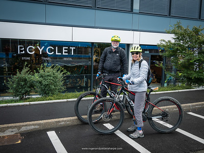 Ready to go - outside the Bcyclet shop in Geneva. Switzerland