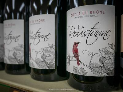 Côtes du Rhône wine. Seyssel. France