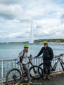 What a wonderful way to explore a city. Lake Geneva and, in the background, Jet D'Eau. Switzerland