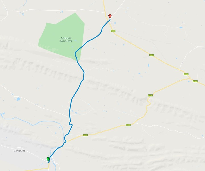 Click the map to go to the route on Google Maps