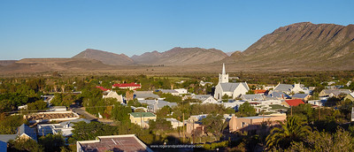 View of Prince (Prins) Albert with Swartberg Mountains in the background.