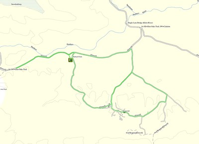 The route we followed around Tesselaarsdal. (Courtesy of Tracks4Africa Maps)