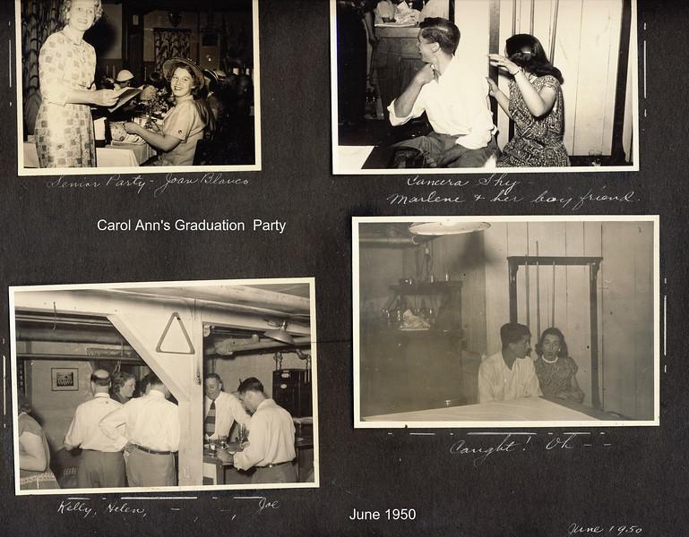 Carol Ann's Grad Party   June 1950