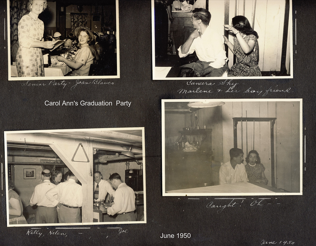 Carol Ann's Grad Party   June 1950