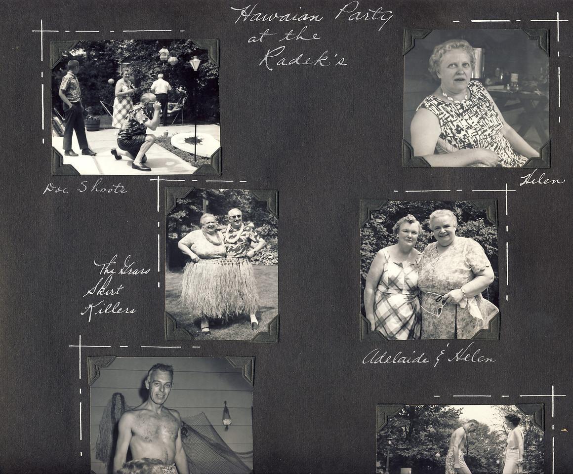 Hawaiian Party at Radeks June '62