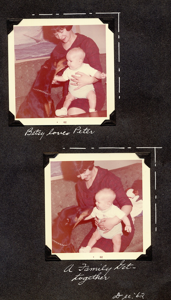 Pete's 1st xmas dec 62