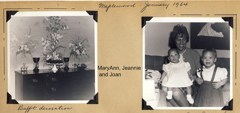 Jean, Maryann and Joan at Ma and Pa's Jan  64