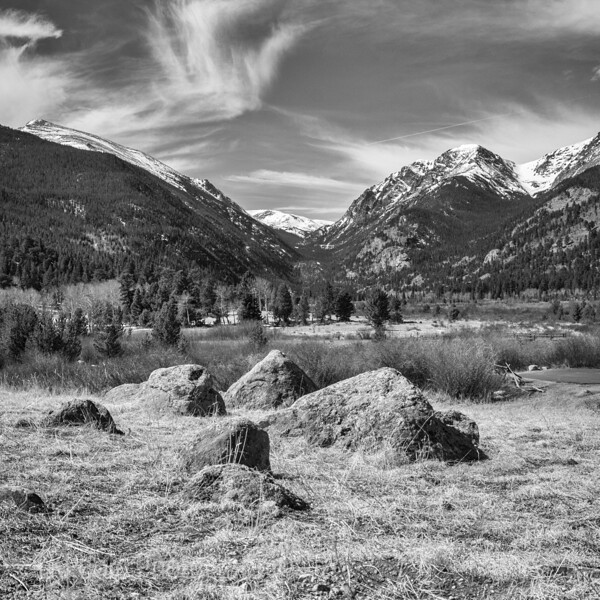 Rockies in Black and White