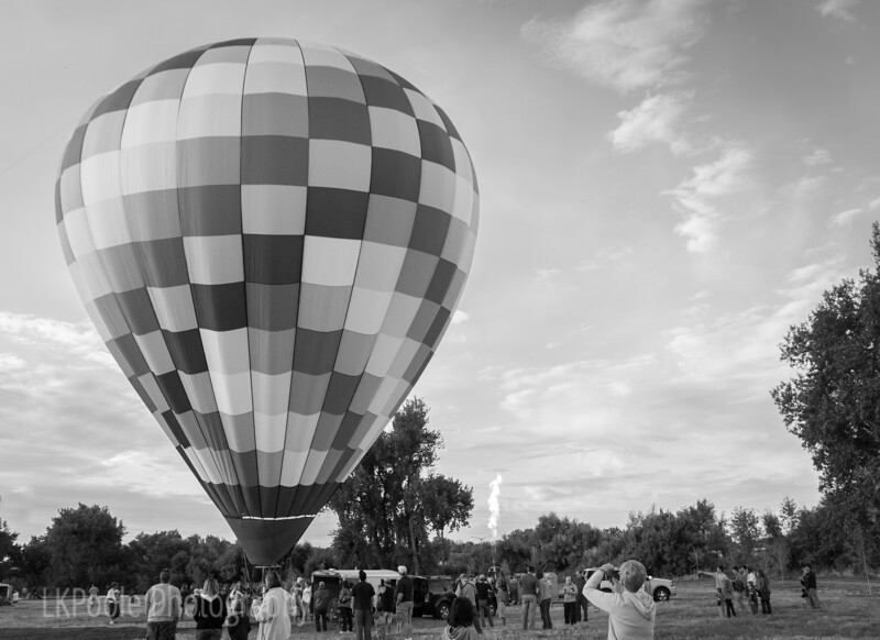 Balloon festival in Windsor Colorado