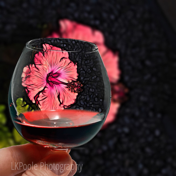 A Glass of Hibiscus Wine