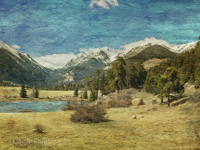 Textured Photo of the Rockies in Springtime