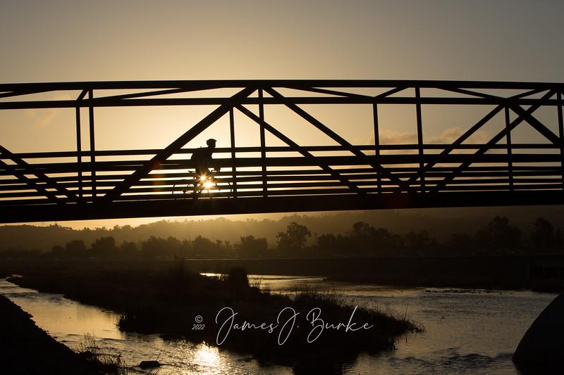 Morning Commute, Santa Ana River Trail