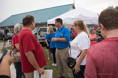 Matt Miller with KSNT visiting with the people.