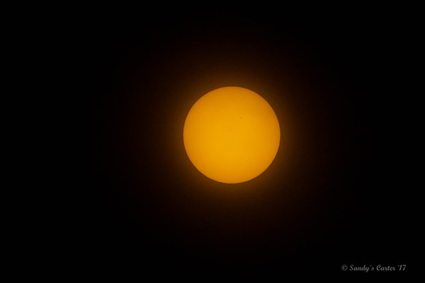 Sun just before 1st contact.