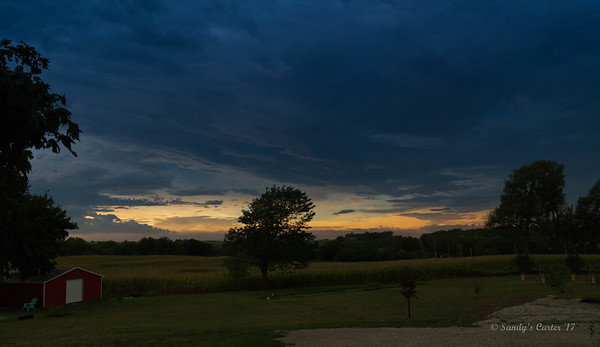 Although the sun was behind the clouds at totality we were able to see the 360 degree sunset effect during totality.