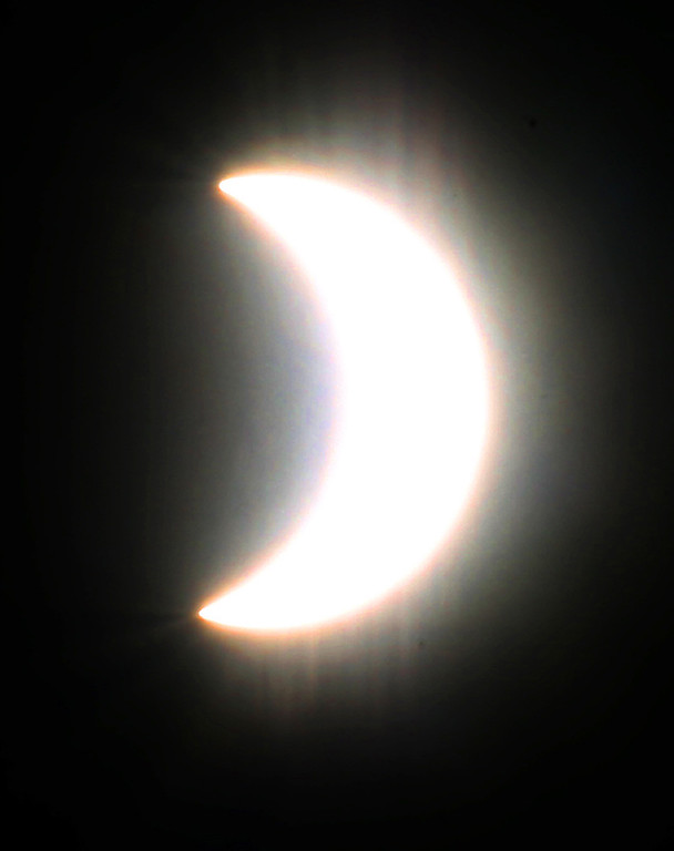. While not total here in the Central Coast of California, Monday�s solar eclipse still presented a unique visage. (Shmuel Thaler � Santa Cruz Sentinel)