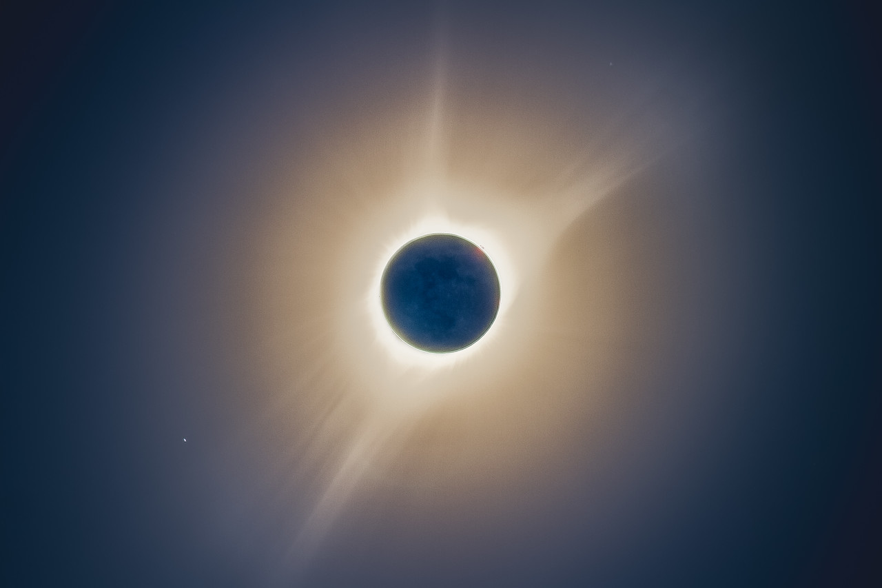 Eclipse Totality Corona HDR