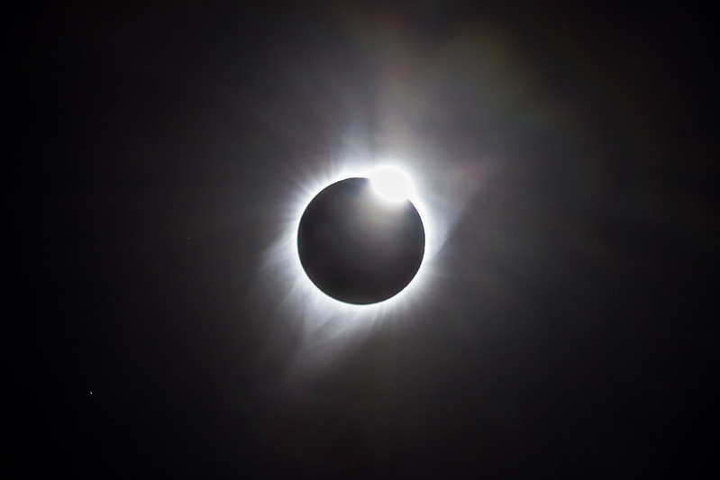 Sun breaking out of totality