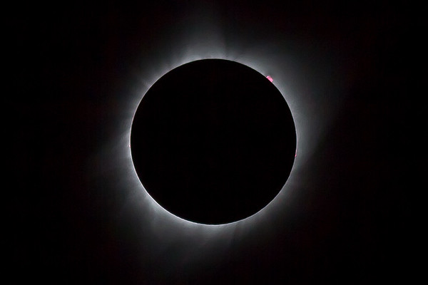 Prominences during totality