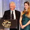 Frank Stronach and grand daughter,  2013 Eclipse Awards at Gulfstream Park, FL<br /> <br /> Photos by Z