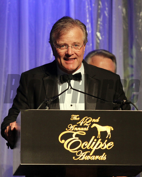 Bill Mott comments on Royal Deltas win, 2013 Eclipse Awards at Gulfstream Park, FL<br /> Photos by Z