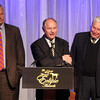 Ned Toffey, Richard Mandella and B Wayne Hughes accept the award for Beholder, Champion 2 Y O Filly, 2013 Eclipse Awards at Gulfstream Park, FL<br /> Photos by Z