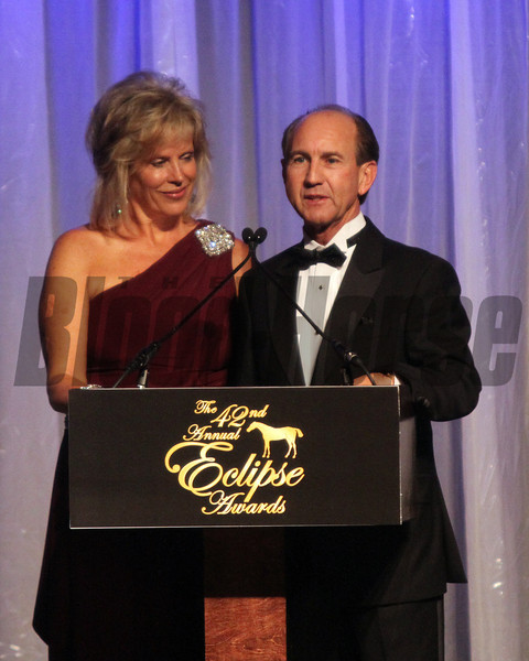 Mr/Mrs Jerry Bailey, 2013 Eclipse Awards at Gulfstream Park, FL<br /> <br /> Photos by Z