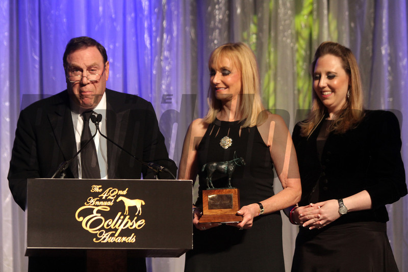 Martin Schwartz  with wife receives for Zagora, Champion Turf Female, 2013 Eclipse Awards at Gulfstream Park, FL<br /> Photos by Z